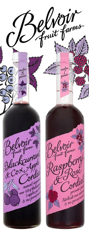 Belvoir Blackcurrant & Raspberry Cocktails