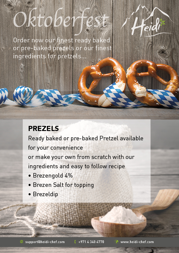 ready baked, pre-baked and bakery ingredients for prezels in Dubai , UAE, GCC and Jordan