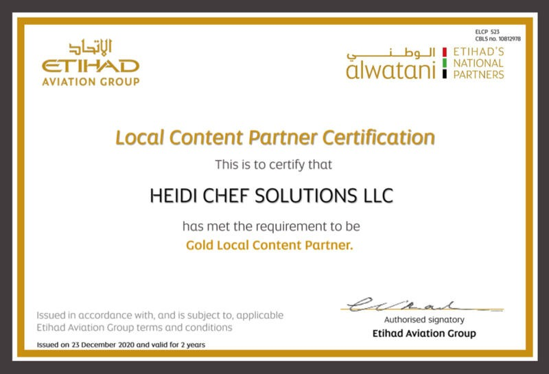 Gold Local Content Partner by Etihad